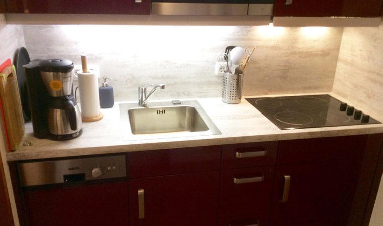 Keuken in Appartement Kleinwalsertal Oostenrijk